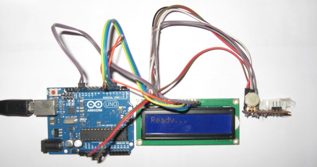 Arduino Board and the LCD Ready for input
