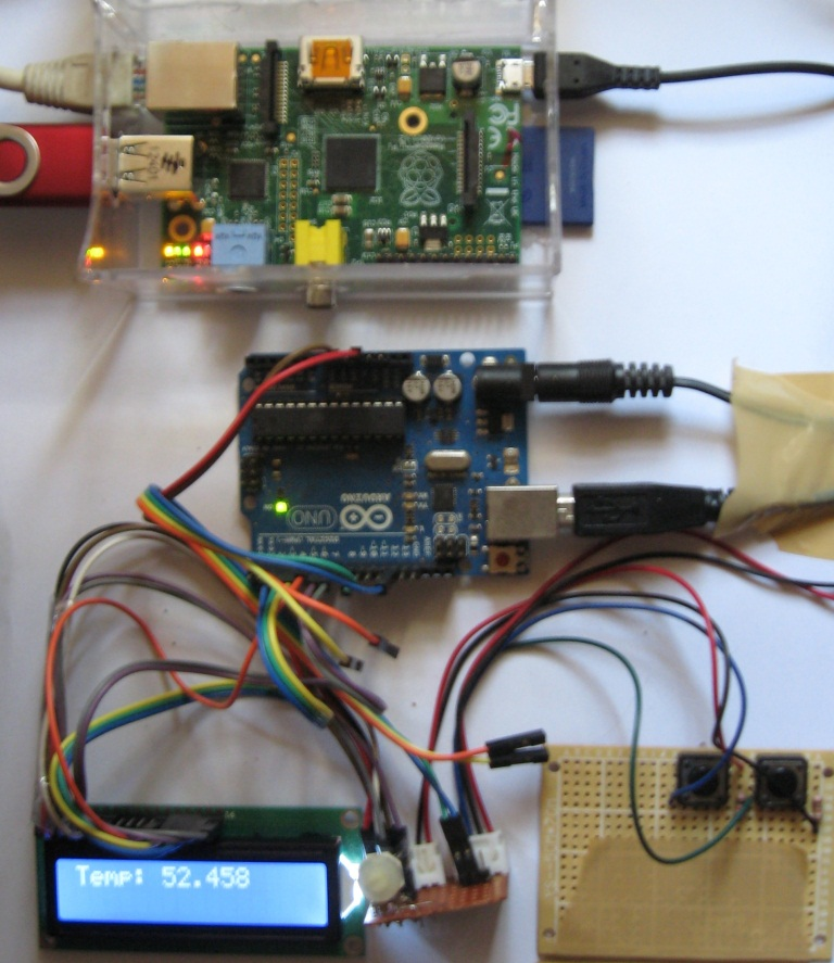 LCD Displaying system temperature